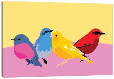 A Flock Of Sweet Birds Canvas Art Print