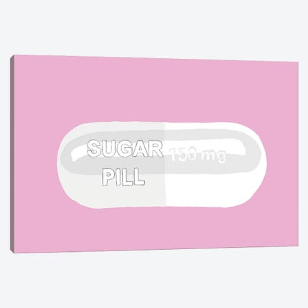 Sugar Pill Pink Canvas Print #JYM132} by Jaymie Metz Canvas Print