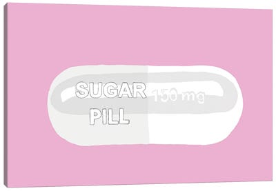 Sugar Pill Pink Canvas Art Print