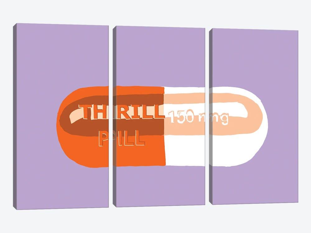 Thrill Pill Lavender by Jaymie Metz 3-piece Canvas Art Print
