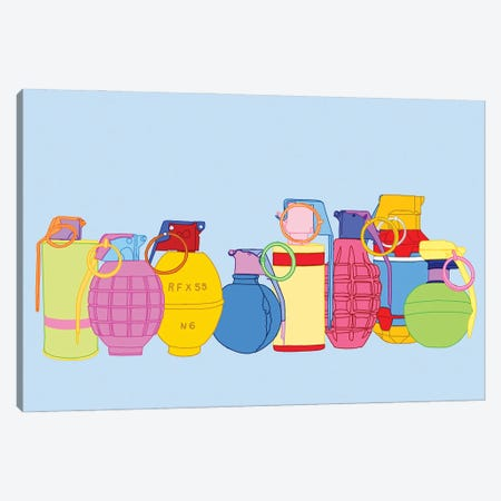 Candy Coated Grenades Canvas Print #JYM15} by Jaymie Metz Canvas Wall Art