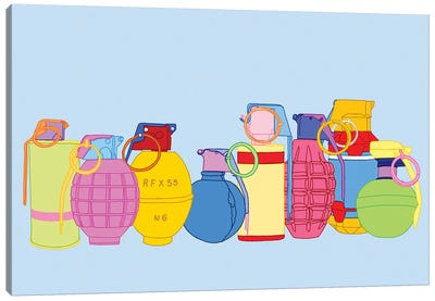Candy Coated Grenades Canvas Art Print
