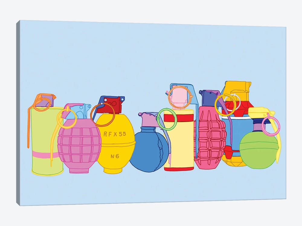 Candy Coated Grenades by Jaymie Metz 1-piece Art Print