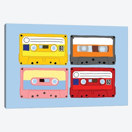 Cassette Tapes Canvas Print #JYM162} by Jaymie Metz Canvas Art