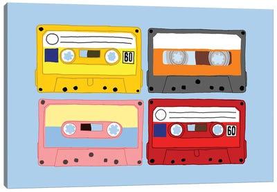 Cassette Tapes Canvas Art Print