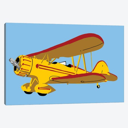 Antique Air Plane Canvas Print #JYM165} by Jaymie Metz Art Print