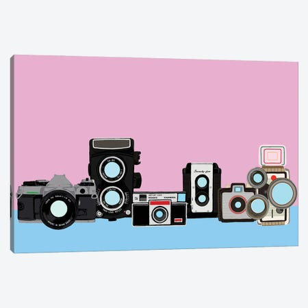 Cameras Pink And Blue Canvas Print #JYM167} by Jaymie Metz Canvas Print