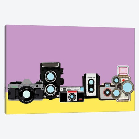 Cameras Lavender And Yellow Canvas Print #JYM173} by Jaymie Metz Canvas Art Print