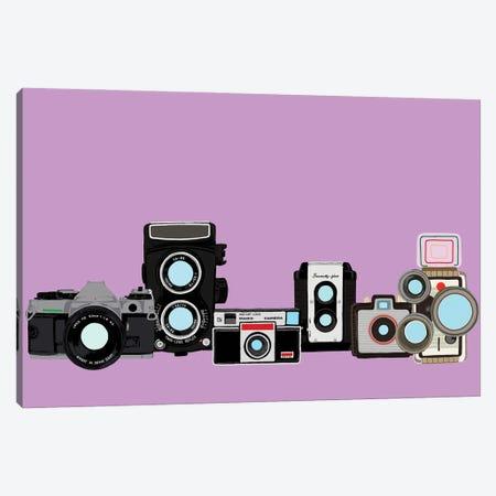 Cameras Lavender Canvas Print #JYM174} by Jaymie Metz Canvas Art