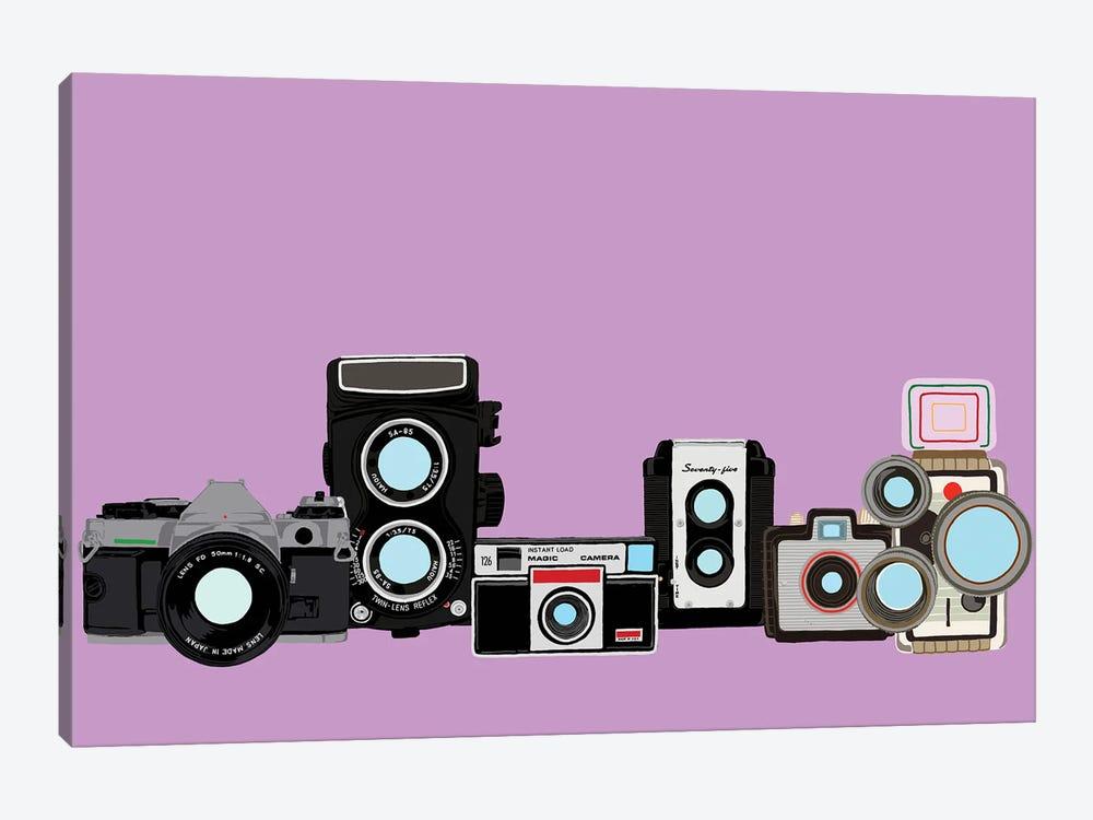 Cameras Lavender by Jaymie Metz 1-piece Art Print