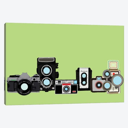 Cameras Mint Canvas Print #JYM175} by Jaymie Metz Canvas Wall Art