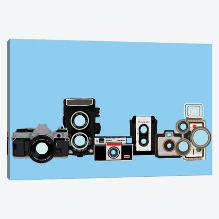 Cameras Blue Canvas Print #JYM177} by Jaymie Metz Canvas Art