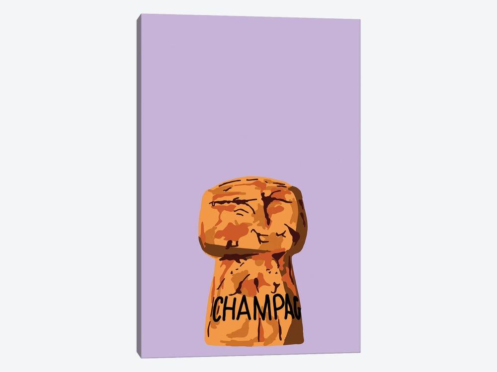 Champagne Cork by Jaymie Metz 1-piece Canvas Art Print