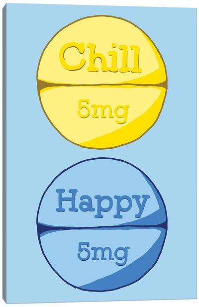 Chill Happy Pill Blue Canvas Art Print