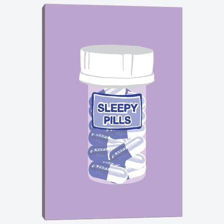 Sleepy Pill Bottle Lavender Canvas Print #JYM215} by Jaymie Metz Canvas Print