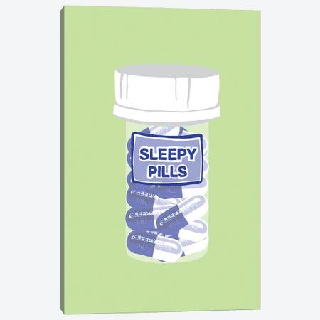 Sleepy Pill Bottle Mint Canvas Print #JYM216} by Jaymie Metz Canvas Art Print