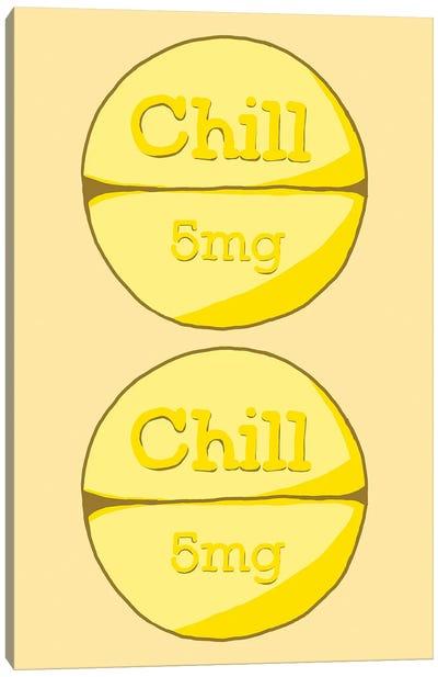 Chill Chill Pill Yellow Canvas Art Print