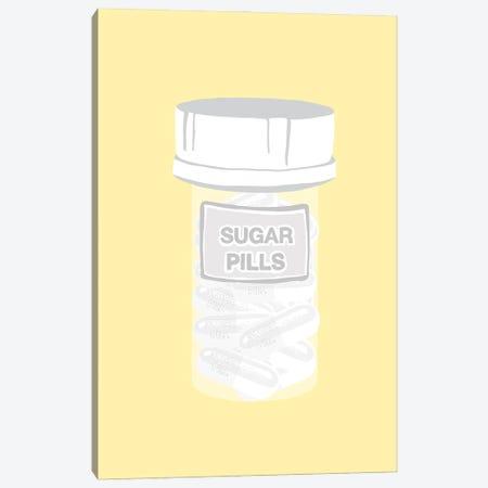 Sugar Pill Bottle Yellow Canvas Print #JYM223} by Jaymie Metz Canvas Print