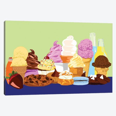 Desserts Canvas Print #JYM236} by Jaymie Metz Canvas Art Print
