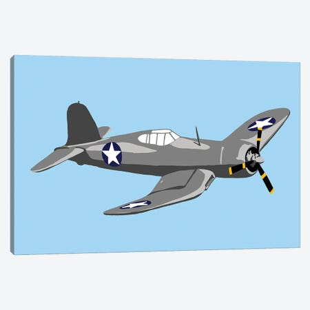 WWII Plane 2 Canvas Print #JYM249} by Jaymie Metz Canvas Art Print