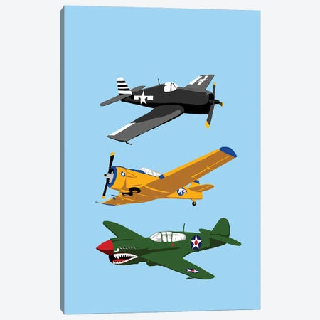 WWII Planes Vertical Canvas Print #JYM255} by Jaymie Metz Canvas Print