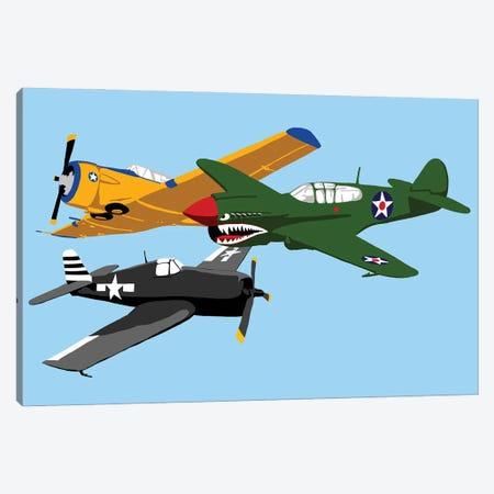 WWII Plane Horizantal Canvas Print #JYM256} by Jaymie Metz Art Print