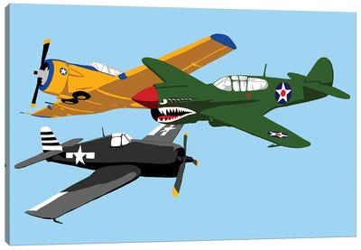 WWII Plane Horizantal Canvas Art Print