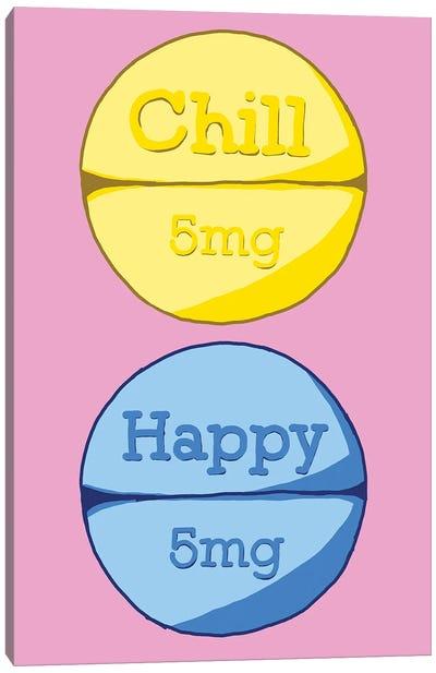 Chill Happy Pill Pink Canvas Art Print