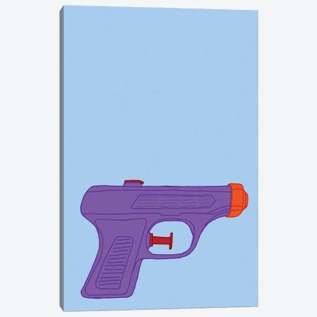 Purple Squirt Gun Blue Canvas Print #JYM269} by Jaymie Metz Canvas Art Print