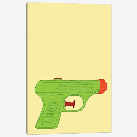 Green Squirt Gun Yellow Canvas Print #JYM278} by Jaymie Metz Canvas Art