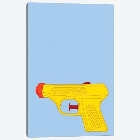 Yellow Squirt Gun Blue Canvas Print #JYM282} by Jaymie Metz Canvas Print