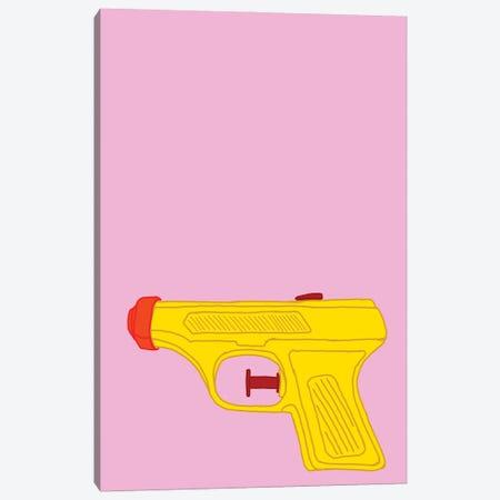 Yellow Squirt Gun Pink Canvas Print #JYM283} by Jaymie Metz Art Print