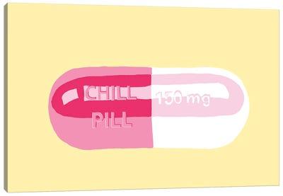 Chill Pill Yellow Canvas Art Print