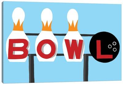 Bowling Sign Canvas Art Print