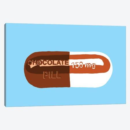 Chocolate Pill Blue Canvas Print #JYM36} by Jaymie Metz Canvas Art