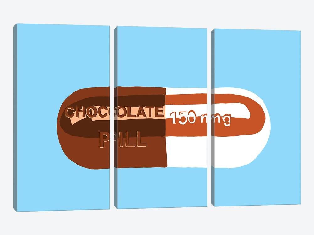 Chocolate Pill Blue by Jaymie Metz 3-piece Canvas Artwork