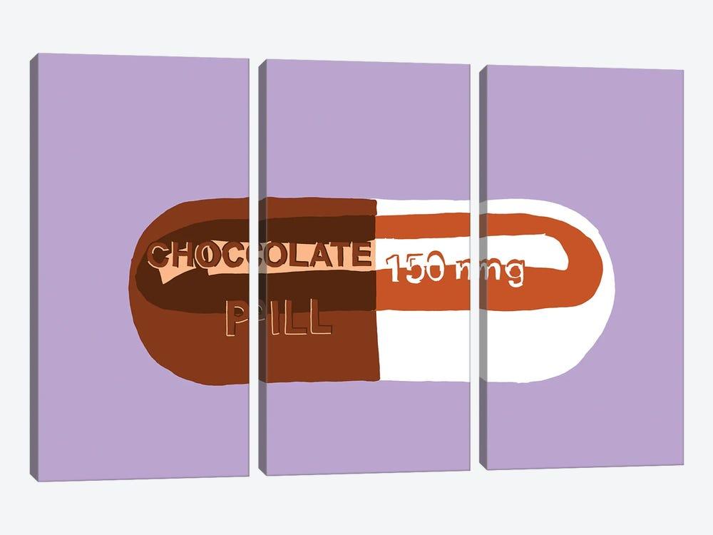 Chocolate Pill Lavender by Jaymie Metz 3-piece Art Print
