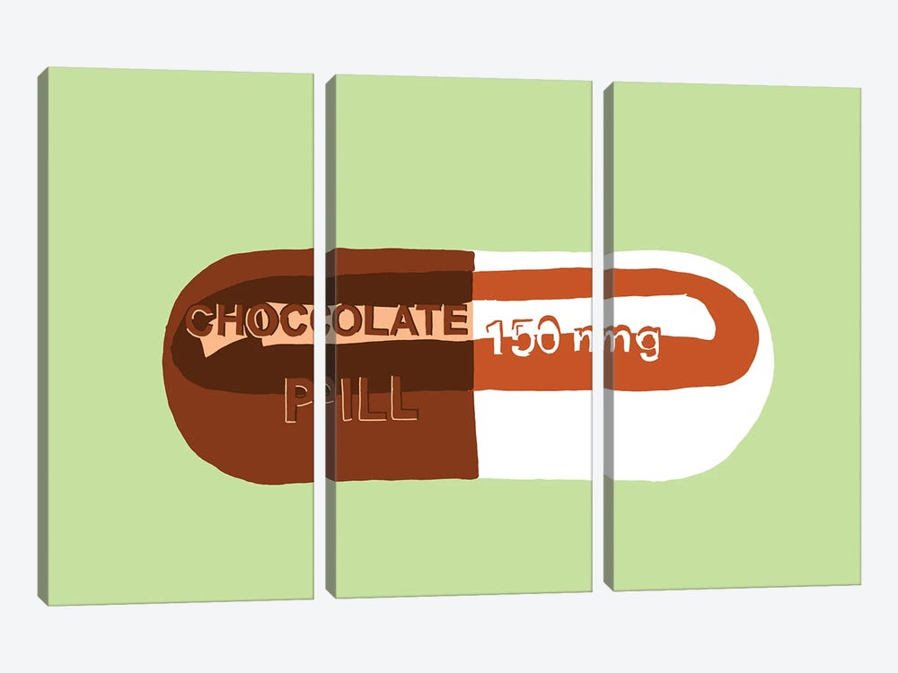 Chocolate Pill Mint by Jaymie Metz 3-piece Canvas Art
