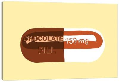Chocolate Pill Yellow Canvas Art Print