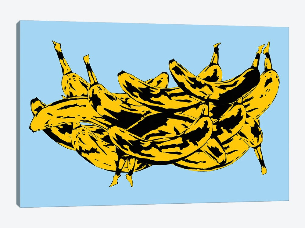 Band Of Bananas II Blue by Jaymie Metz 1-piece Canvas Artwork