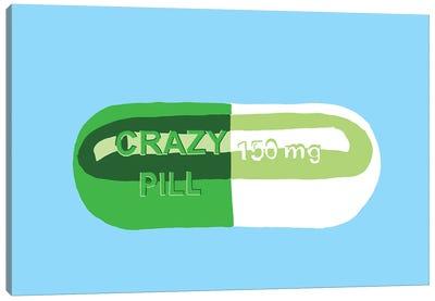 Crazy Pill Blue Canvas Art Print