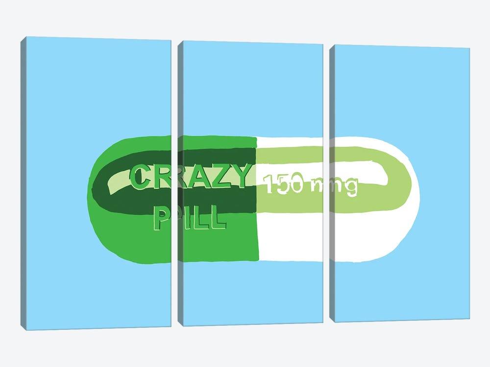 Crazy Pill Blue by Jaymie Metz 3-piece Canvas Art