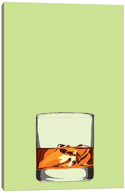 Glass Of Whisky Canvas Art Print