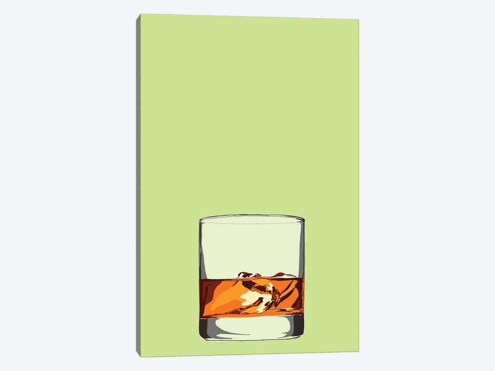 Glass Of Whisky by Jaymie Metz 1-piece Canvas Art Print