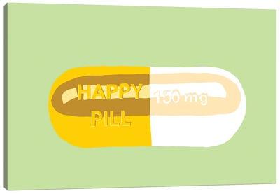 Happy Pill Mint Canvas Art Print