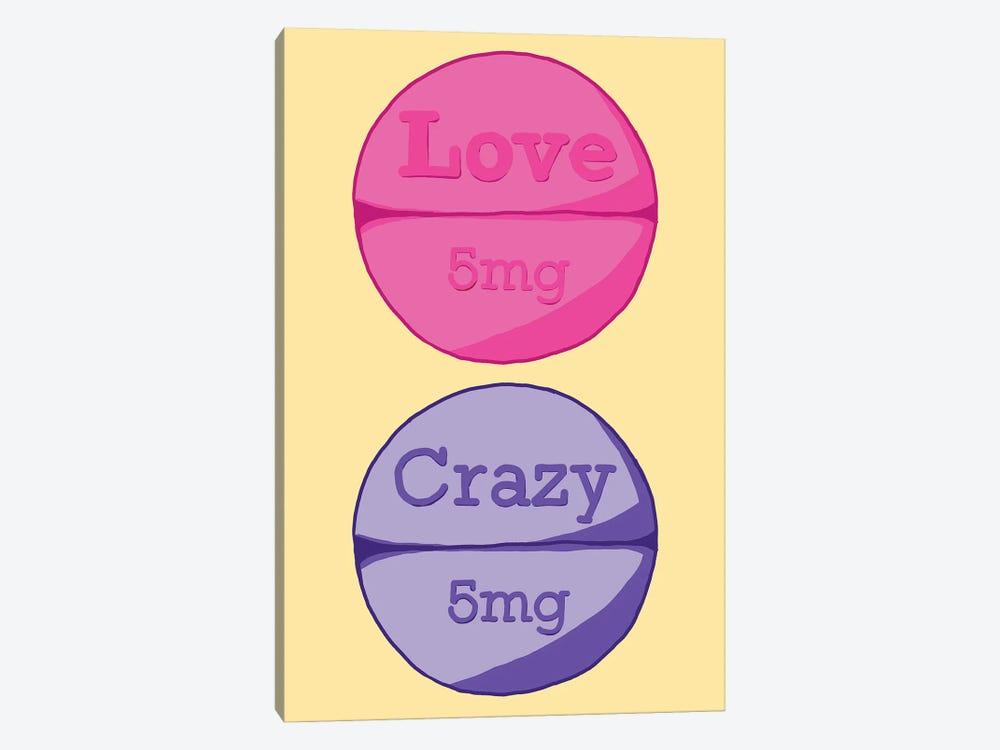 Love Crazy Pill Yellow by Jaymie Metz 1-piece Art Print