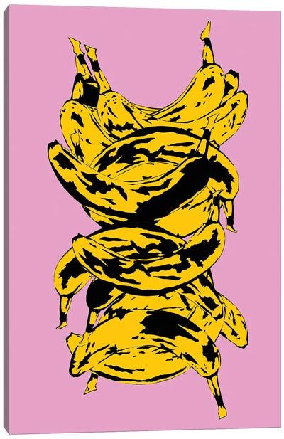 Band Of Bananas Pink Canvas Art Print