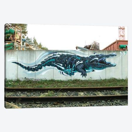Croco Canvas Print #JYN11} by JAYN Canvas Wall Art