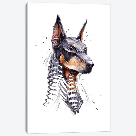 Dober Canvas Print #JYN12} by JAYN Canvas Wall Art