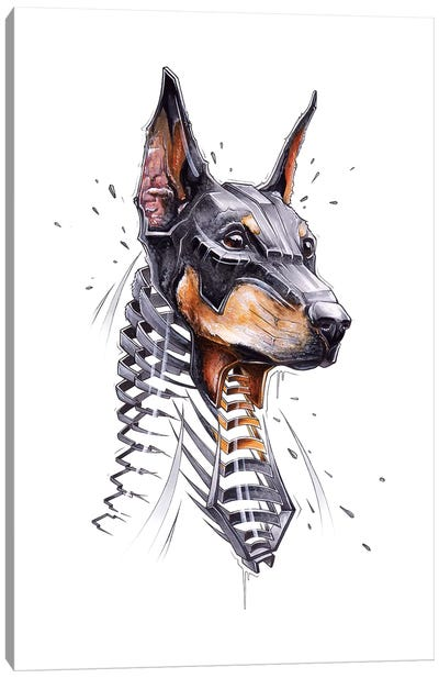 Dober Canvas Art Print